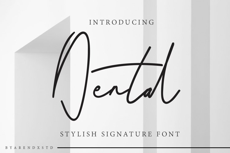 Dental Signatures Font example image 1