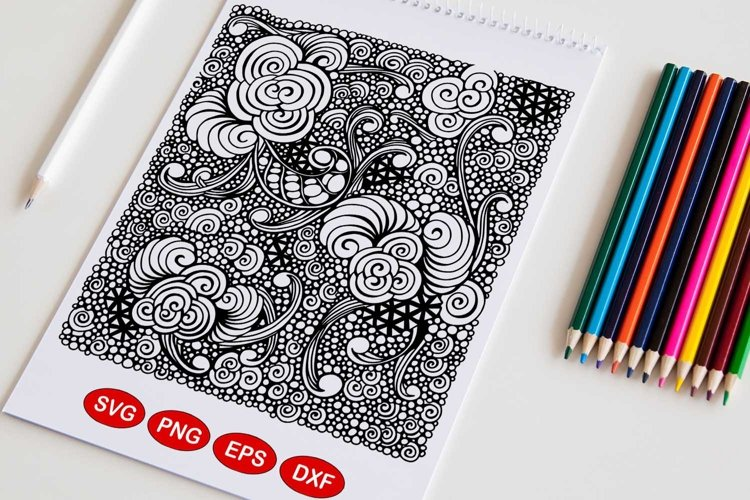 Zentangle inspired pattern example image 1