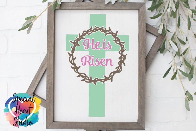 He is Risen SVG - Easter - Home decor, sign, pillow cut file
