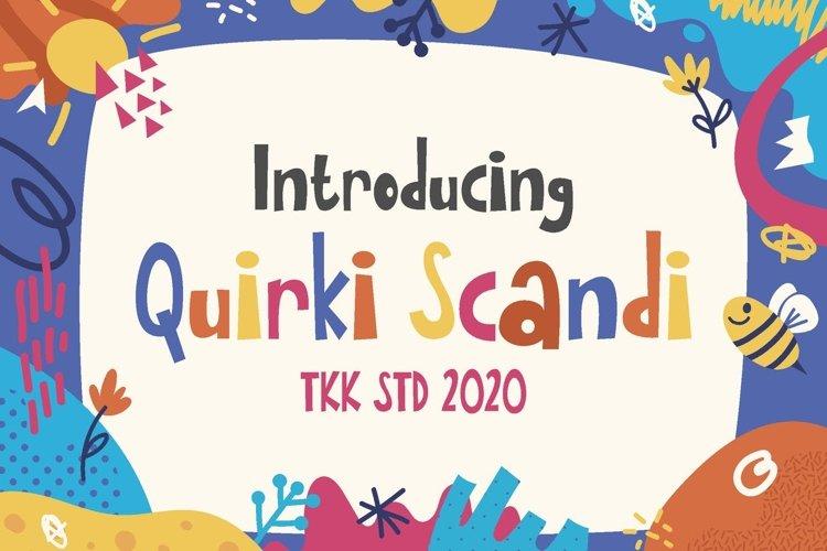 Quirki Scandi - Girly Kids Font example image 1
