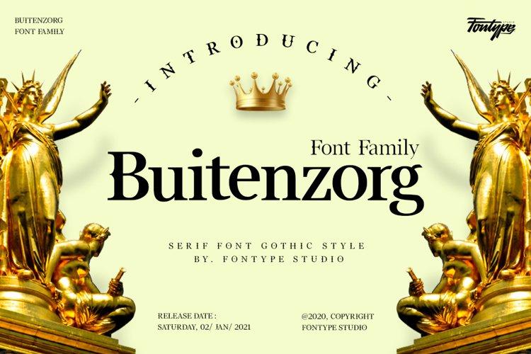 Buitenzorg - Font Family Serif Font Style