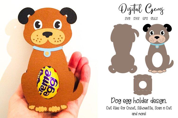 Dog egg holder design SVG / DXF / EPS files example image 1
