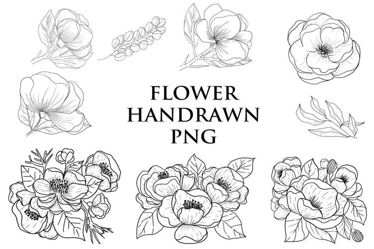 flower handrawn