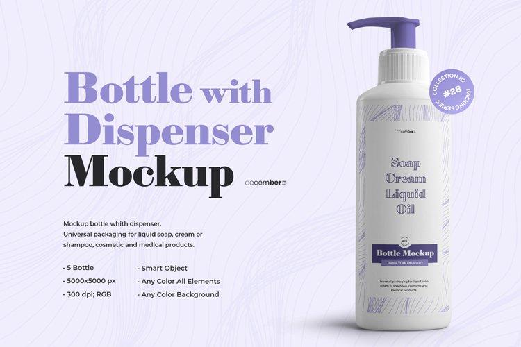 5 Mockups Plastic Bottle With Dispenser example image 1