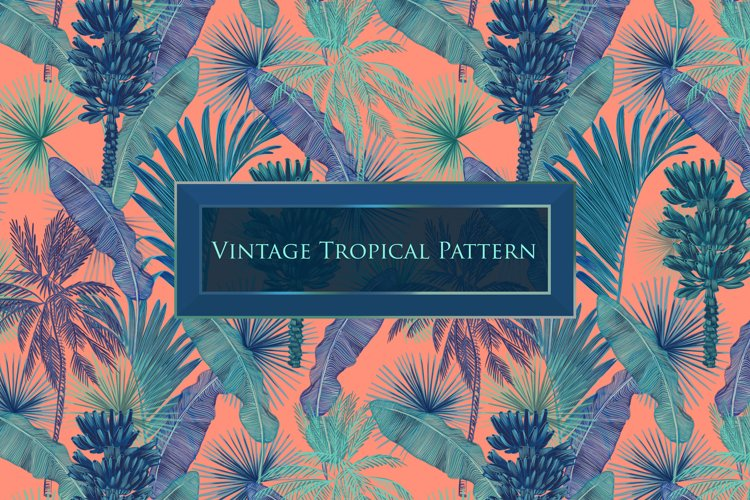 Vintage tropical pattern example image 1