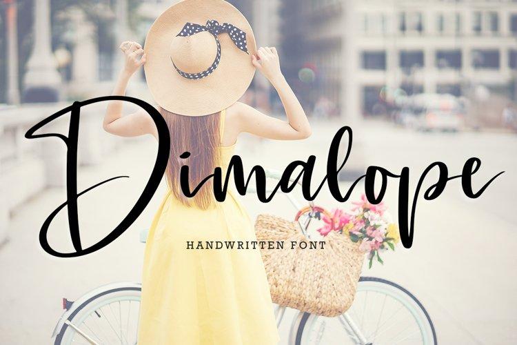 Dimalope Script Font example image 1