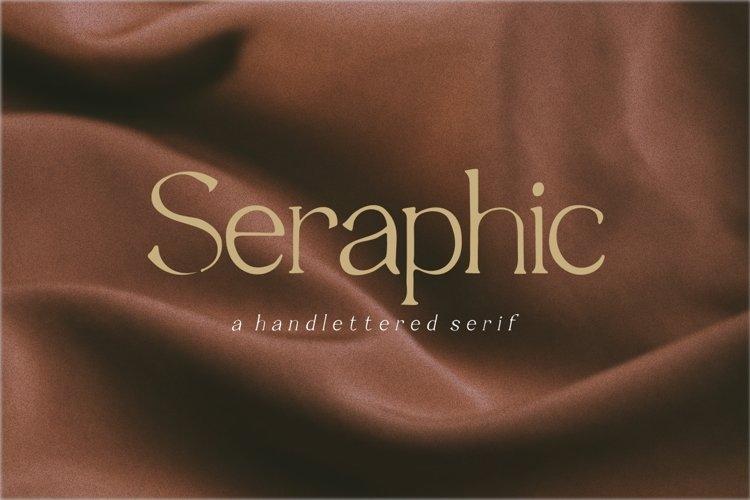 Seraphic handwritten serif font example image 1
