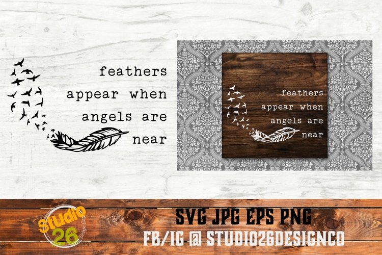 Feathers appear when Angels are near - SVG PNG EPS example image 1