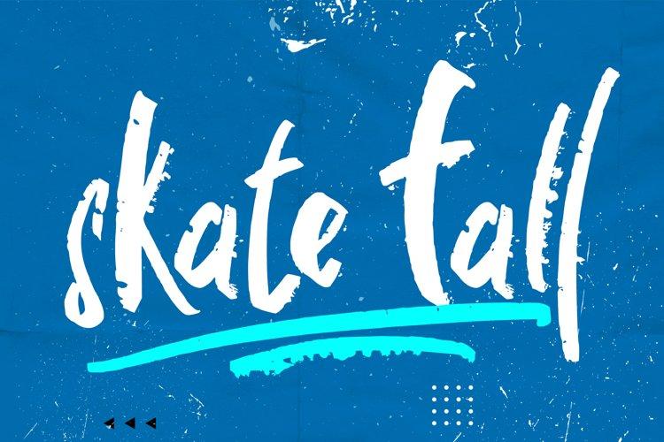 Skate Fall - WEB FONT