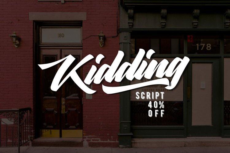 Kidding Script example image 1
