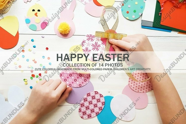 Handmade Colored Easter Decoration DIY Paper Craft 14 Photos