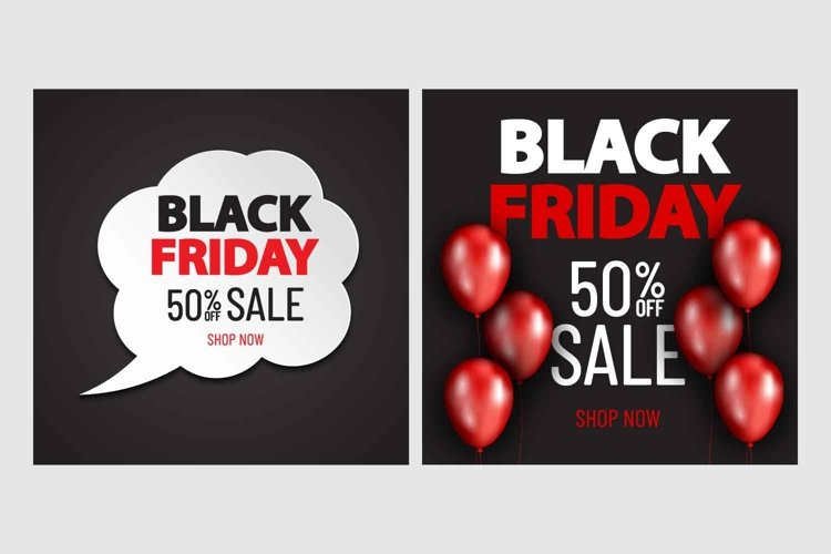 Collection of 2 black friday sale banners example image 1