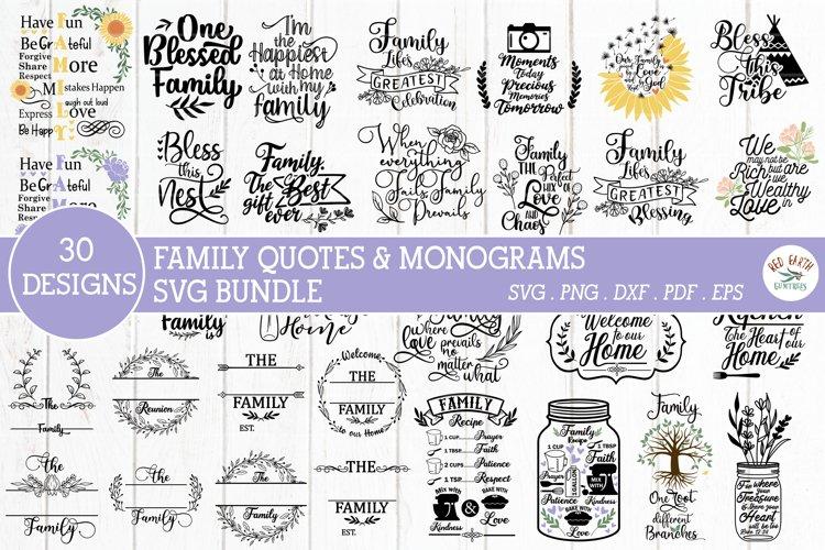 BIG family Bundle SVG,Family quotes,family monograms bundle
