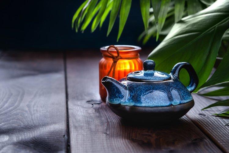 Traditional Asian tea ceremony arrangement. example image 1