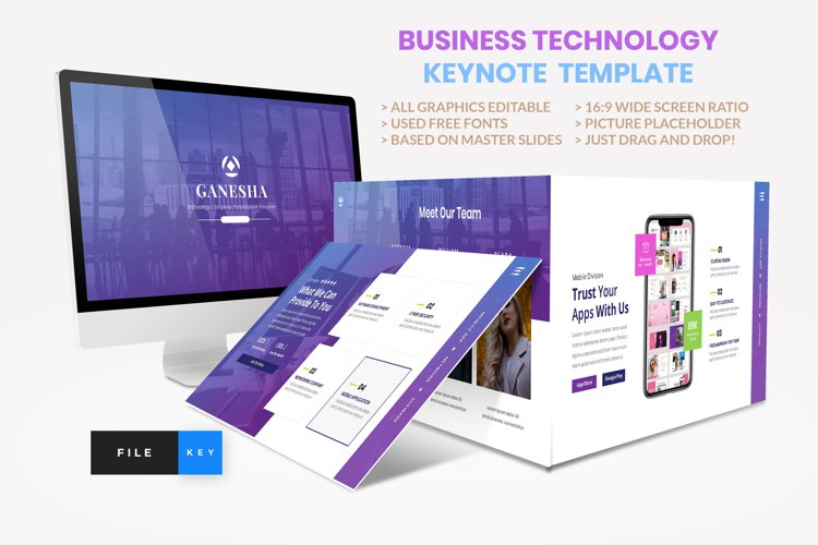 Business - Technology Keynote Template example image 1