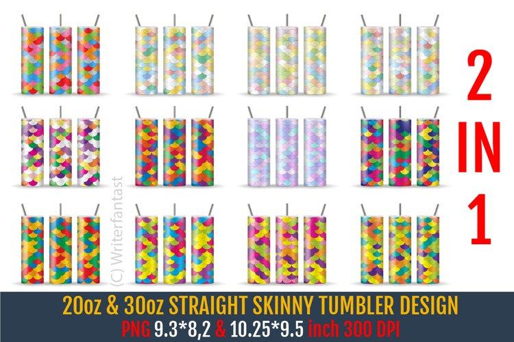 20oz & 30oz STRAIGHT Skinny Tumbler Sublimation
