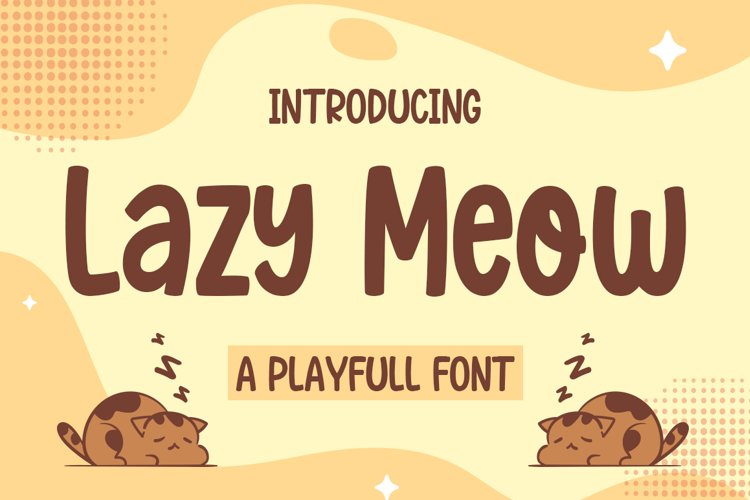 Lazy Meow - Playfull Font example image 1