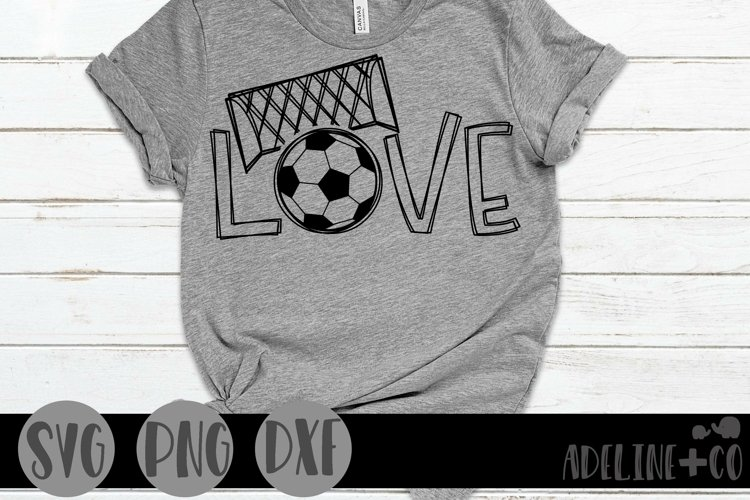 Love soccer, SVG, sports example image 1