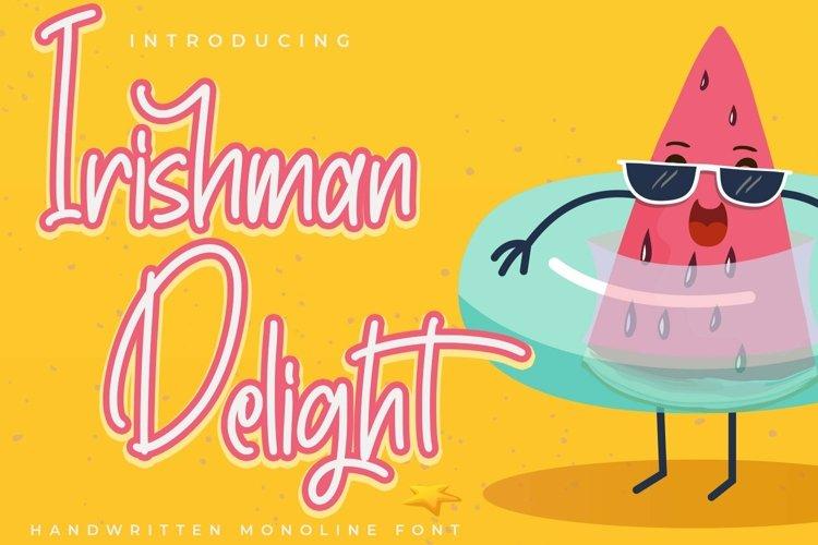 Web Font IrishmanDelight - Cute Fonts example image 1