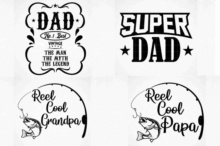Father's Day Bundle, Real Cool Papa, Real Cool Grandpa SVG example image 1