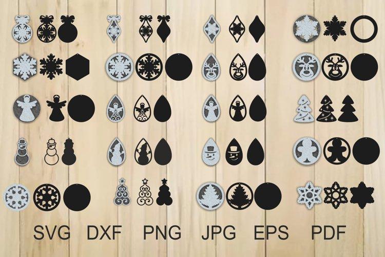 Download Christmas Earrings Svg Jewelry Laser Cut Template 384874 Cut Files Design Bundles