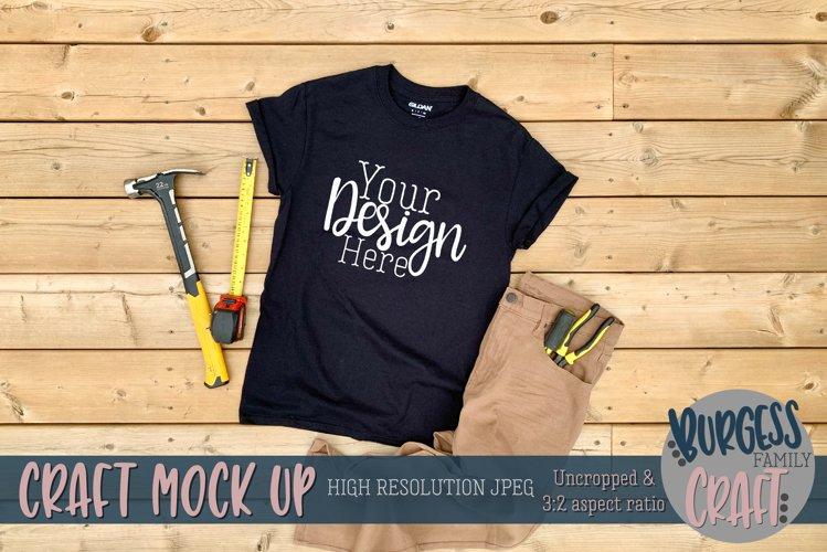 Mens black Gildan t-shirt |Craft mock up example image 1