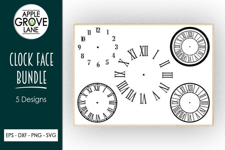 Clock Face Bundle - 5 designs included - Svg Cut File