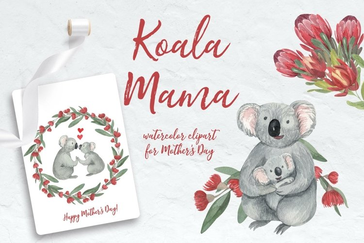 Koala Mama - Mothers Day Watercolor Clipart & Sublimation