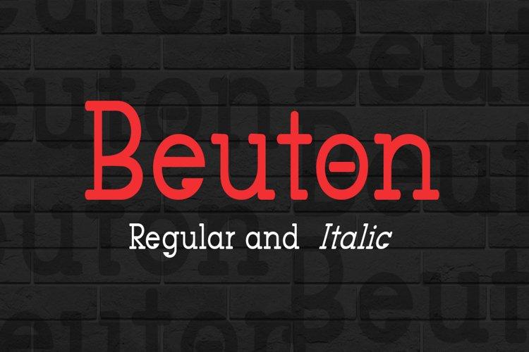 Beuton Regular example image 1