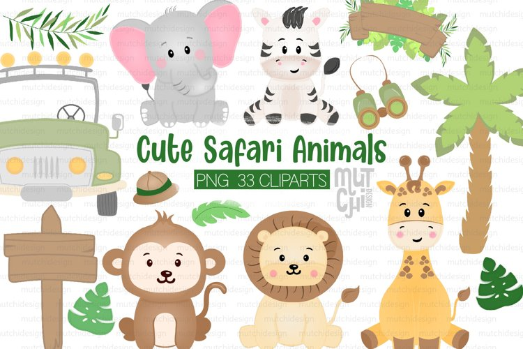 Safari Animals Cliparts