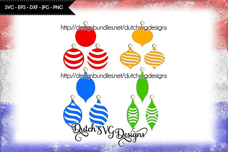 12 Christmas ornaments cutting files, christmas svg example image 1