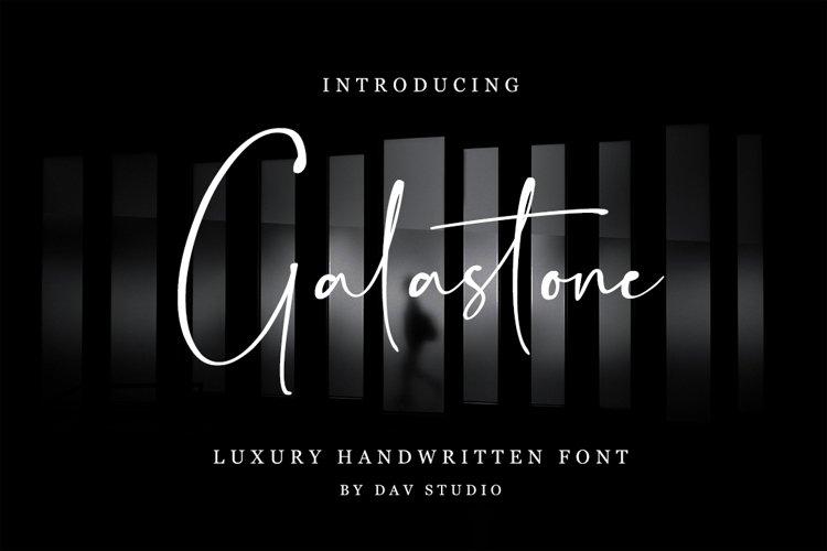 Galastone - Handwritten Font example image 1