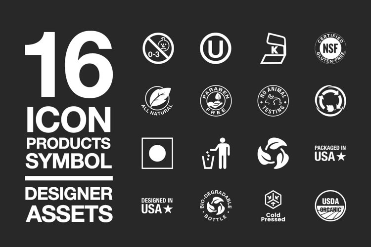 Designer Assets Vol2 Icon/Symbol EPS, PDF, AI