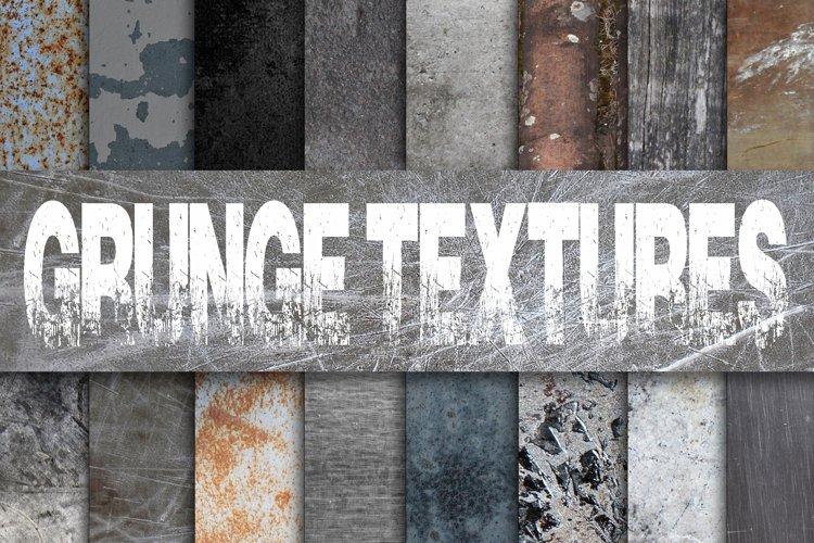 Grunge Metal Textures Digital Paper example image 1