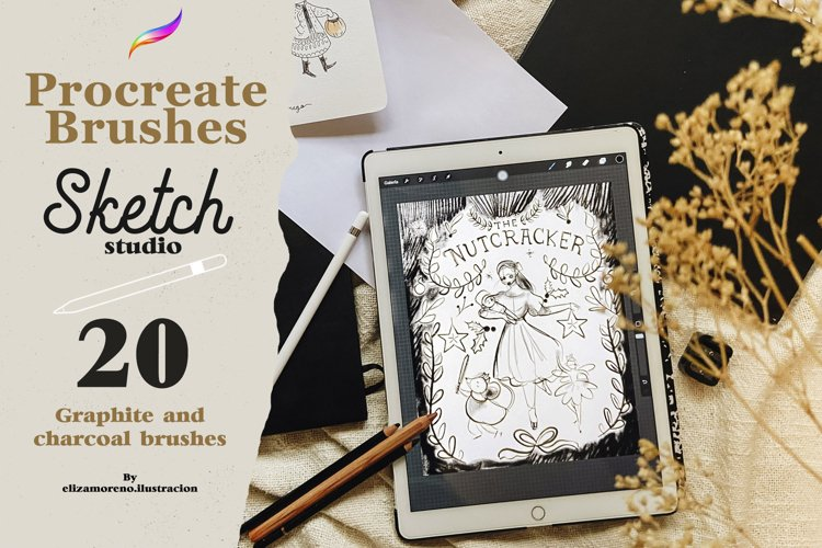 Sketch Studio Brushes for procreate example image 1