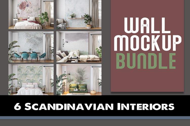 Wall mockup - Wallpaper mockup BUNDLE