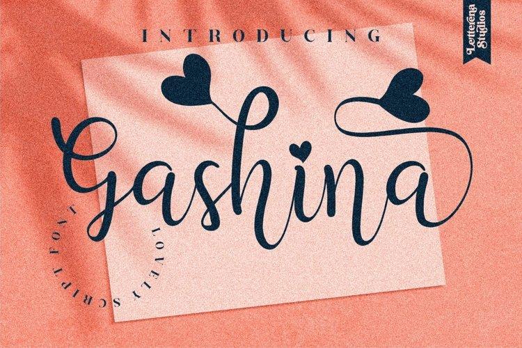 Gashina - Beautiful Lovely Script Font example image 1