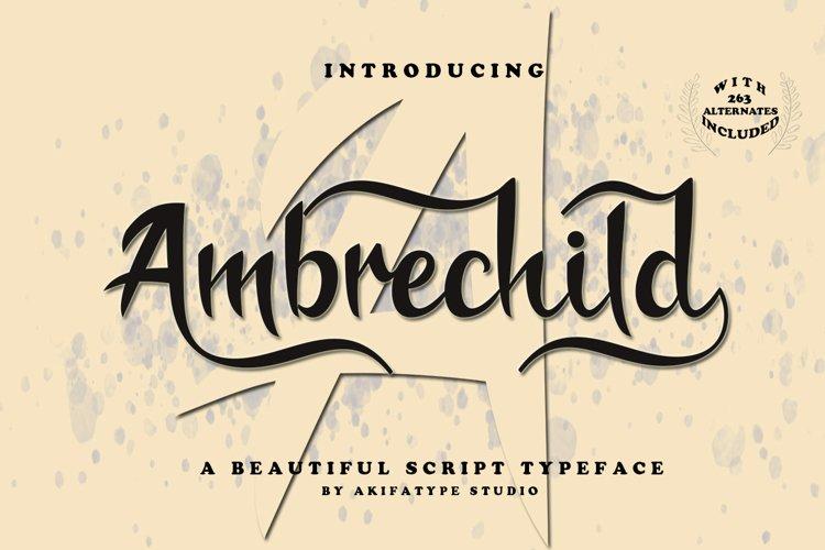 Ambrechild Script example image 1