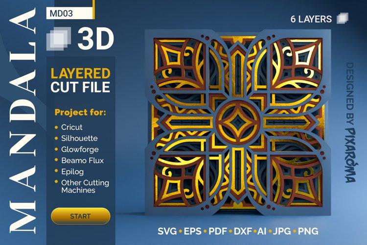 Mandala MD03 3D Layered SVG Cut File