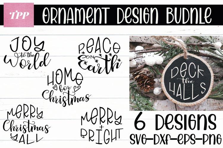 Christmas Ornament SVG Bundle, Wood Slice svgs, Round svg