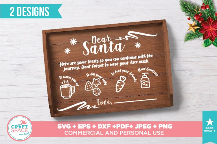 Santa Tray Christmas 2020 SVG, PNG, PDF and other Formats example image 1
