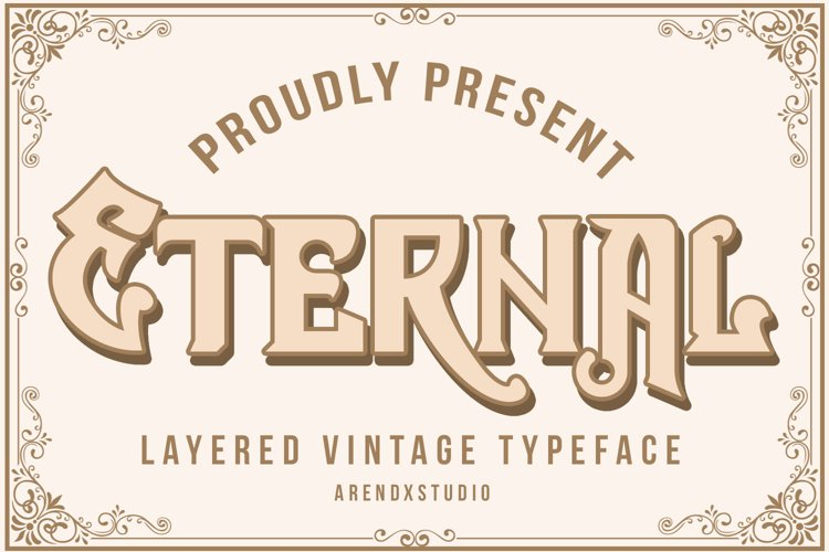 Eternal Layer Vintage Typeface example image 1