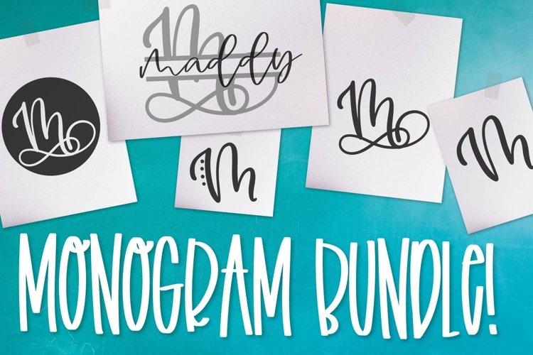 Monogram Bundle - FIVE Styles Including a Split Monogram!