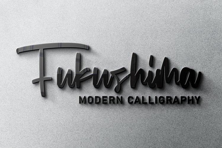 Fukushima Modern Calligraphy example image 1