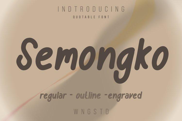 Semongko - Quotes cute font example image 1