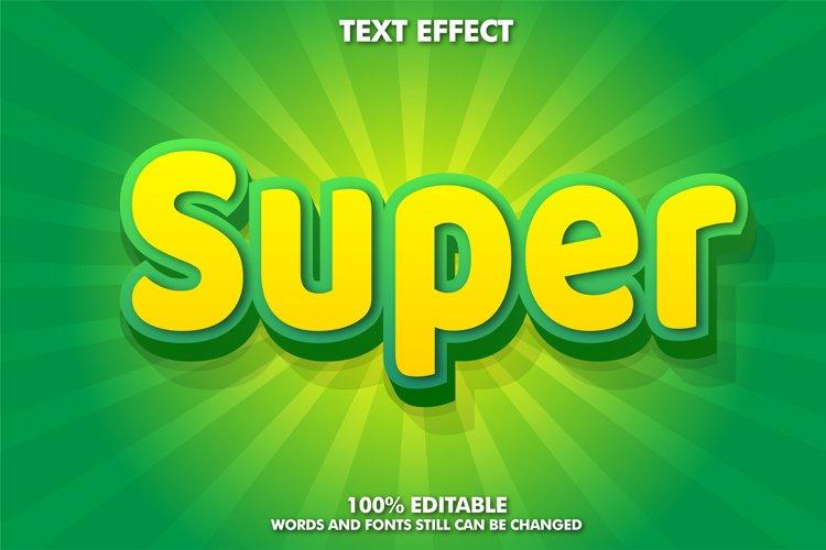 3D Editable Text Effect - Super Style