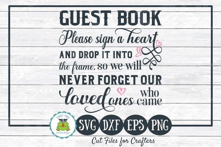 Alternative Wedding Guest Book SVG Cut File, Printable PNG