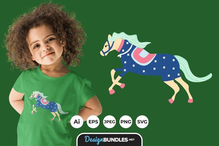 Colorful Horse Illustrations for T-Shirt Design