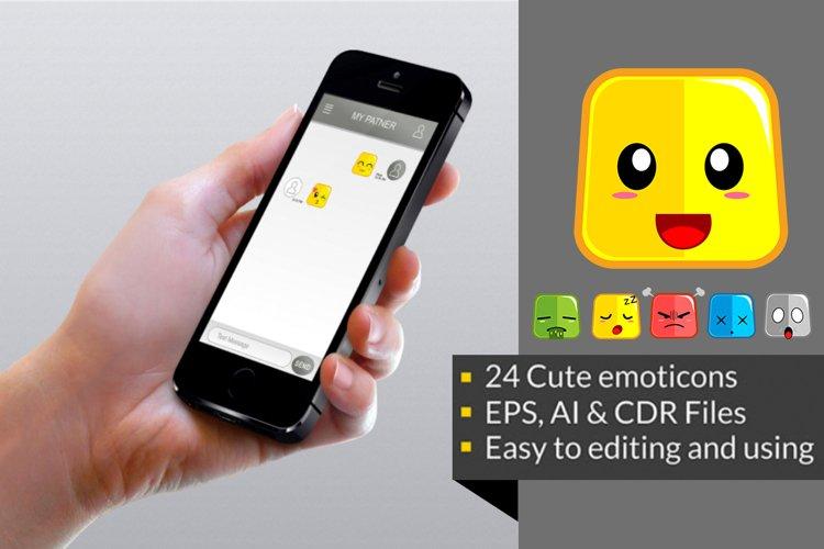 Square Cute Emoticon example 1