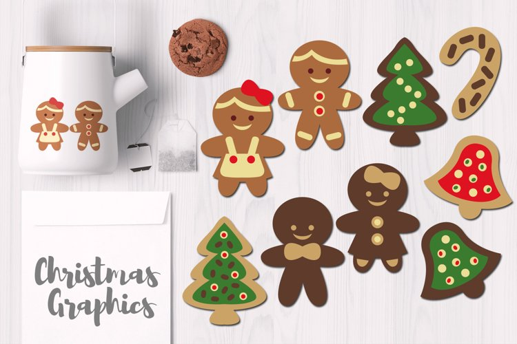 Cute Gingerbread Cookis, Christmas Graphics example image 1
